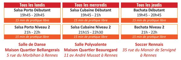 Cours de Salsa et Bachata Rennes