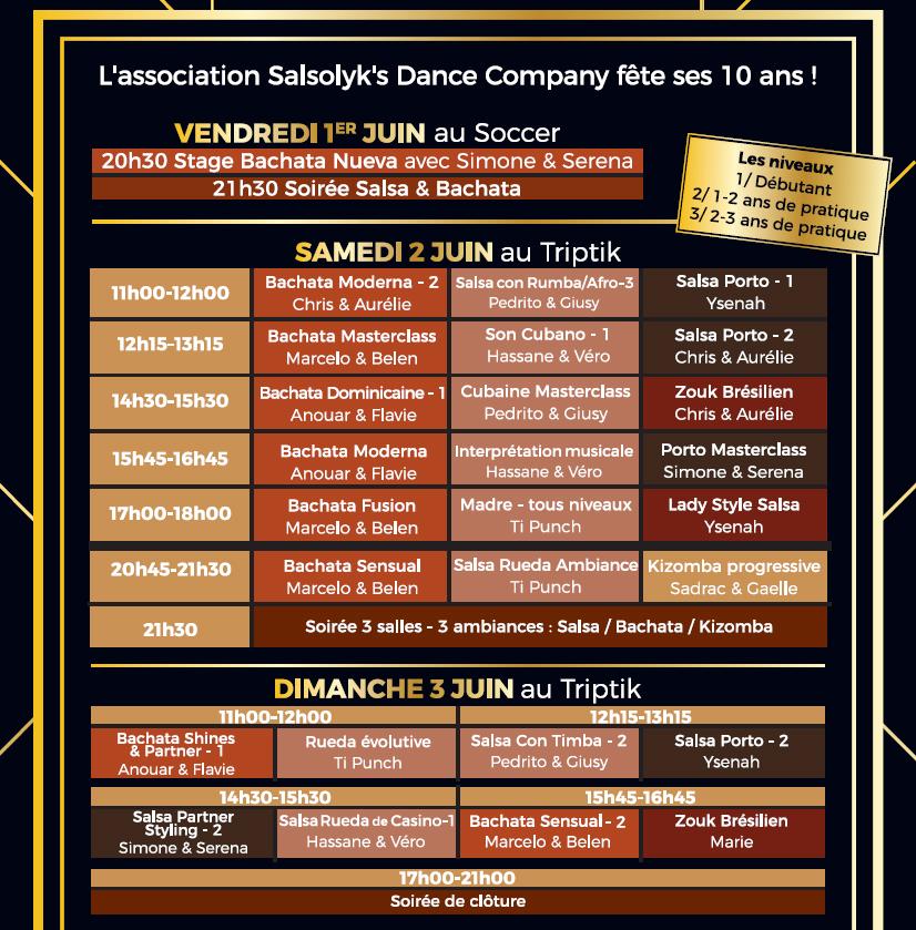 Salsa Bachata Rennes Programme Salsolyk